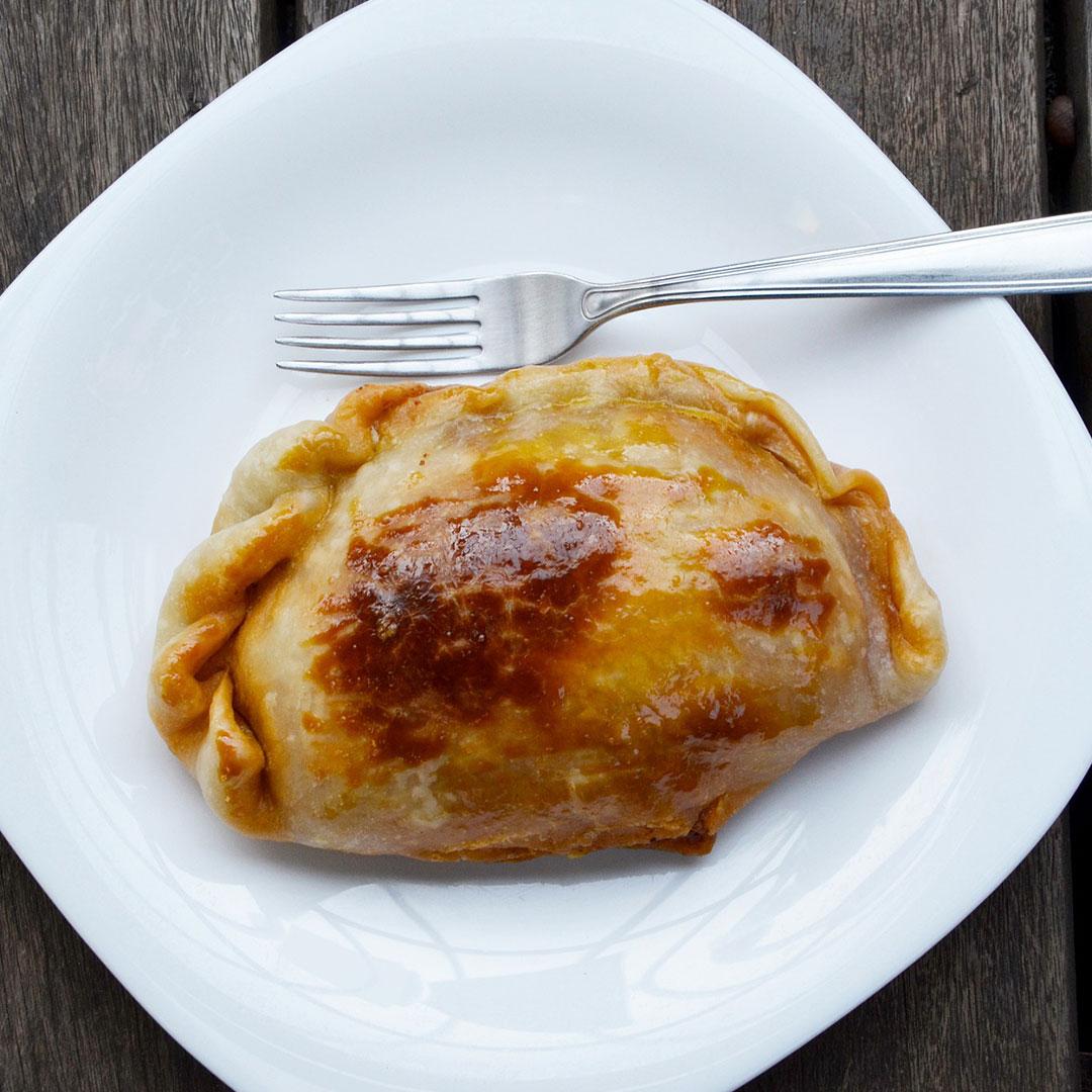 plated empanada