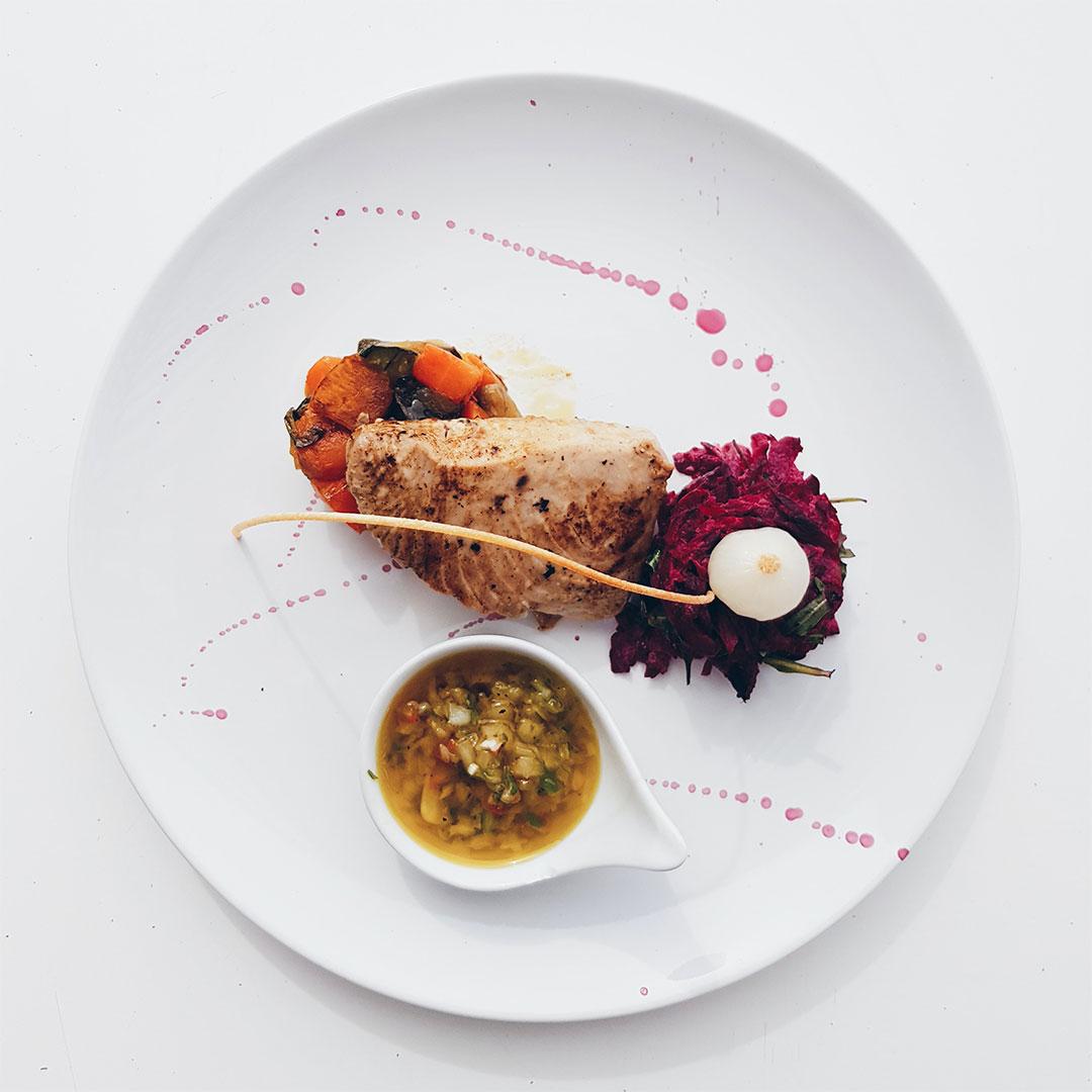 plated chicken