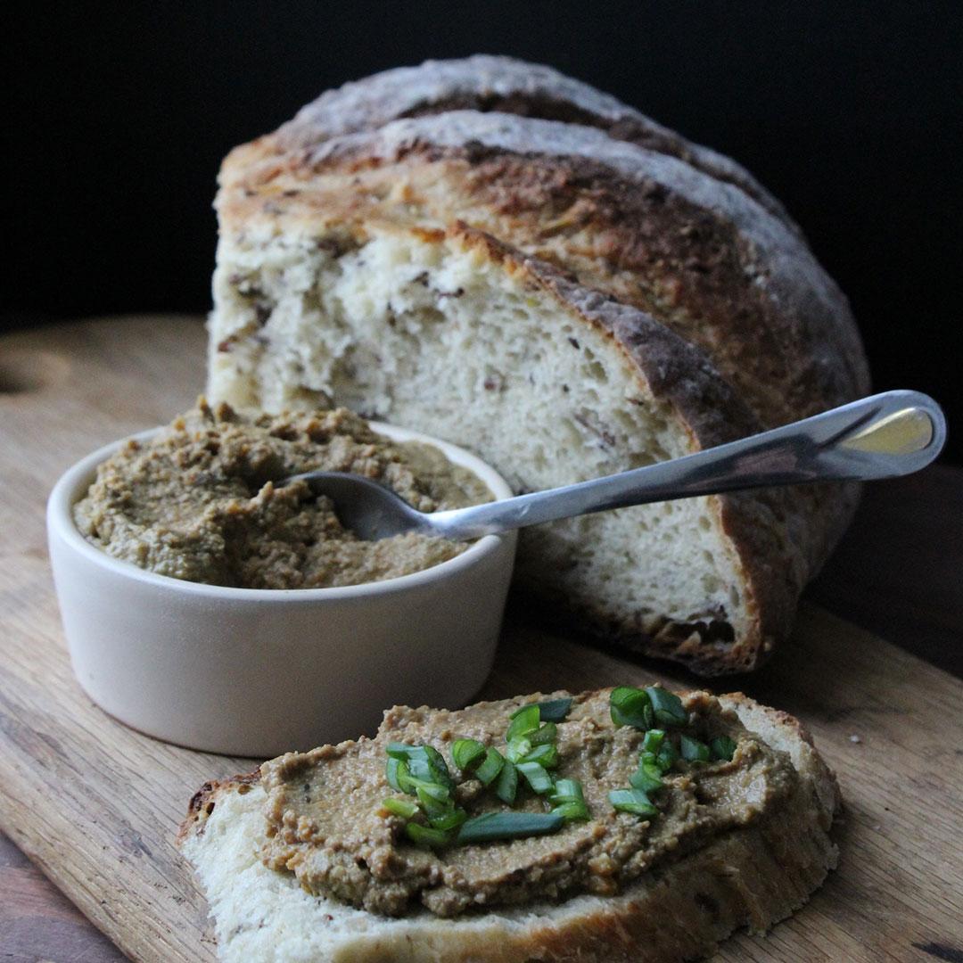 Tapenade on bread