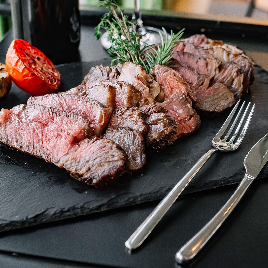 plated Steak