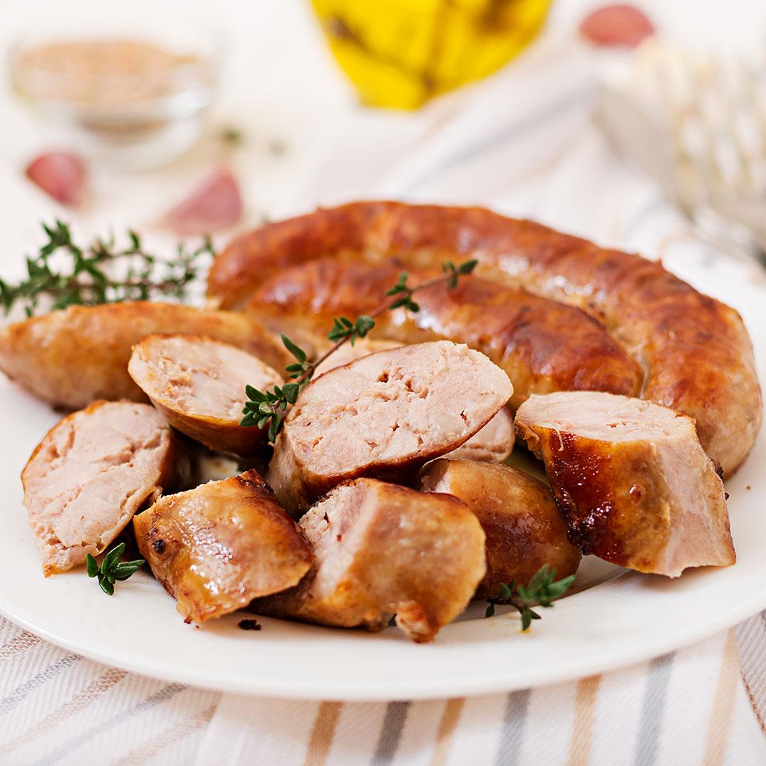 plated sausage