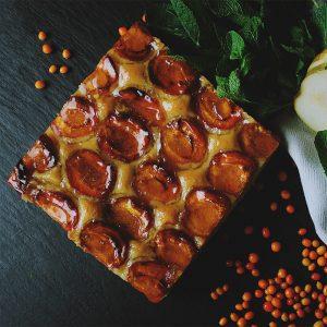plum dessert