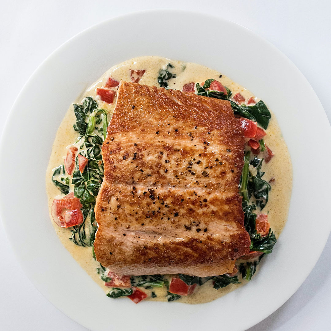 plated salmon