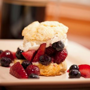 Peppered Scone with Strawberries