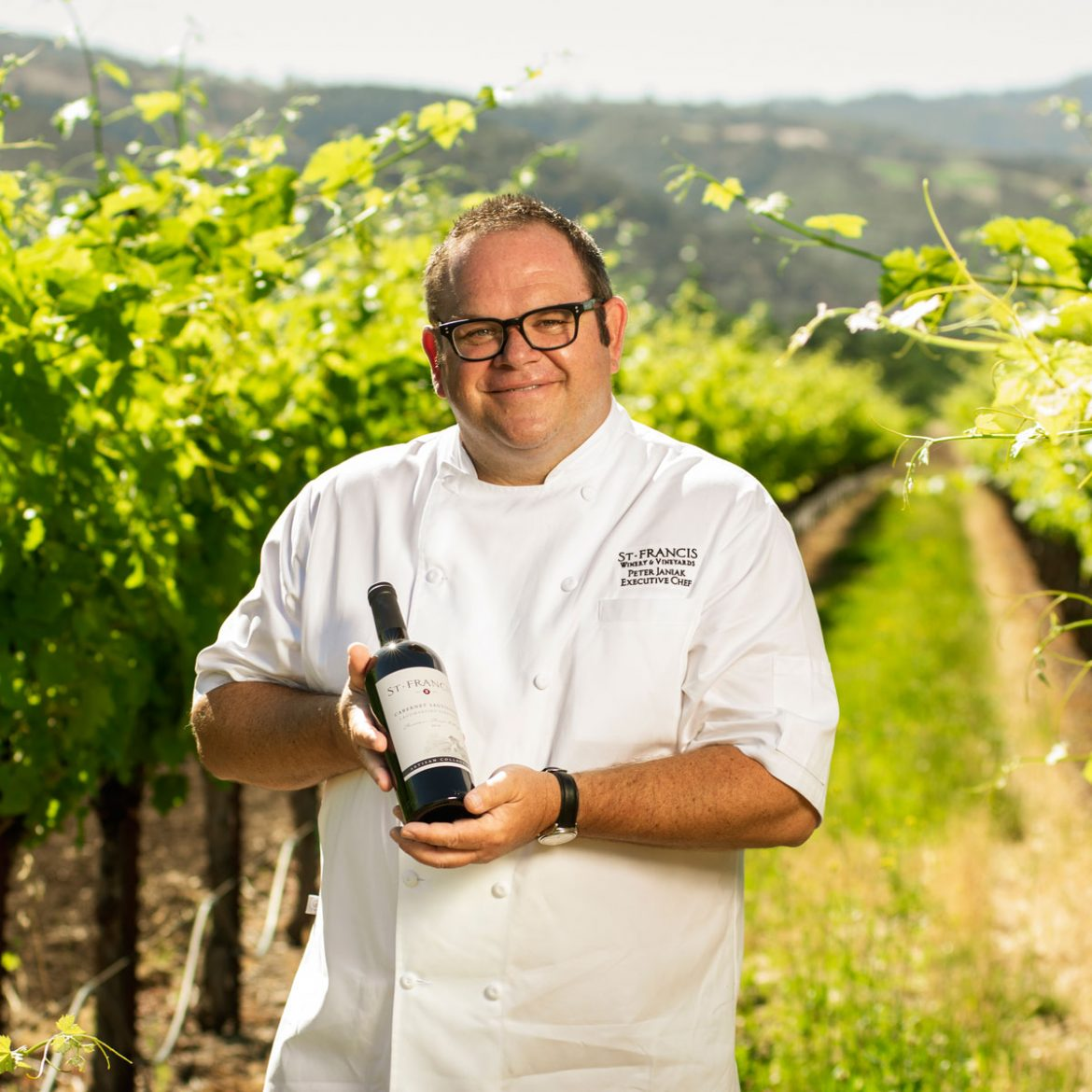Enjoy the culinary stylings of Chef Janiak at St. Francis Winery