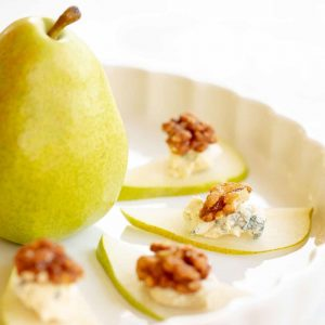 plated pears