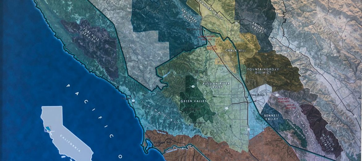 Sonoma County topographical map
